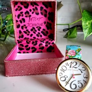 Betsey Johnson Rare Vintage Floral Stretch Watch